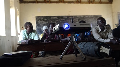 smart projector in use